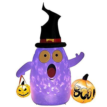 WSCOLL Calabaza Inflable de Halloween Decoración de Miedo al ...