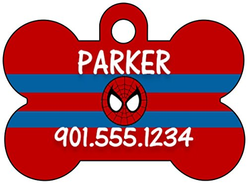 Spiderman Pet Id Tag for Dogs & Cats Personalized w/ Name & -