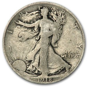 1918 Walking Liberty Half Dollar Good Half Dollar Good (Half Silver Dollar 1918)