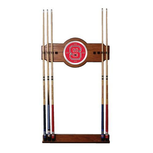 NCAA North Carolina State University Billiard Cue Rack with Mirror by Trademark Gameroom
