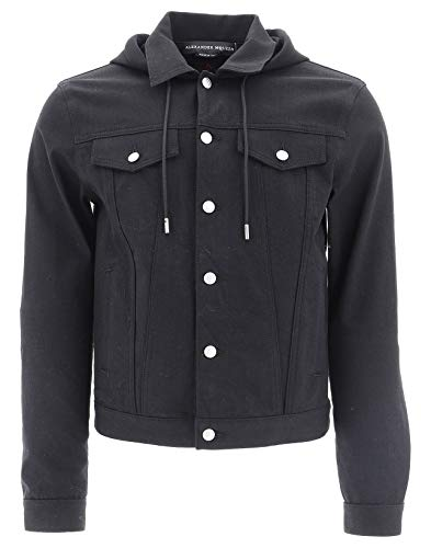 Alexander McQueen Men's 544078Qmy011000 Black Cotton Jacket
