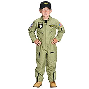 Aeromax Jr. Fighter Pilot Suit with Embroidered Cap - 41GEuoaMw8L - Aeromax Jr. Fighter Pilot Suit with Embroidered Cap