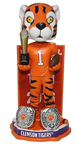 FOCO The Tiger Clemson Tigers 2-Time National Champions Bobblehead NCAA
