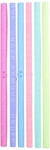 Under Armour Girls' Heathered Mini Headbands - 6 Pack, Tropic Pink (654)/Penta Pink, One Size