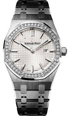 Audemars Piguet Royal Oak Diamond Silver Dial Stainless Steel Ladies Watch 67651ST.ZZ.1261ST.01