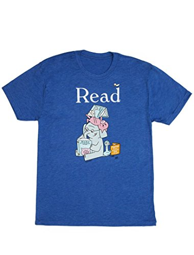 - Out of Print Men's Elephant and Piggie Read T-Shirt X-Large