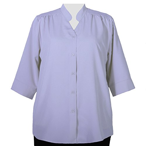 A Personal Touch Women's Plus Size Lilac 3/4 Sleeve V-Neck Tunic - 3X