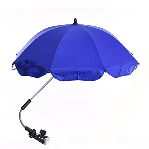 Katech Detachable Stroller UV Protection Umbrella Adjustable Baby Pram Pushchair Sun Shade Parasol with Universal Clamp