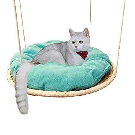 QNMM Hecho A Mano Paja Gato Hamaca Mascota Cuna Paja Y Tela De Algodón Cama Gato Camas Colgantes Cómodo Cojín Transpirable: Amazon.es: Productos para ...