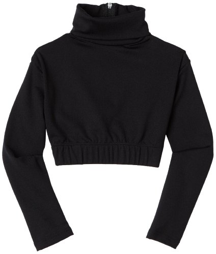Capezio Little Girls' Turtleneck Long Sleeve Top,Black,S