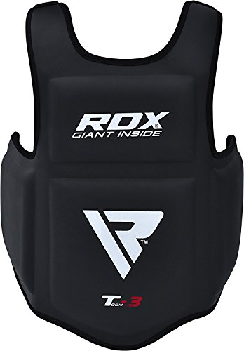 RDX Boxing Chest Guard MMA Martial Arts Rib Shield Armour Taekwondo Body Protector Training (CE Certified Approved by SATRA) (Gear Warrior Fight)