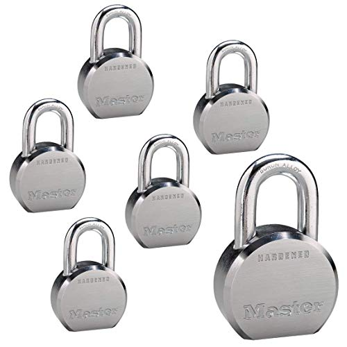 High Security Key - Master Lock - (6) High Security Pro Series Keyed Alike Padlocks 6230NKA-6 w/BumpStop Technology