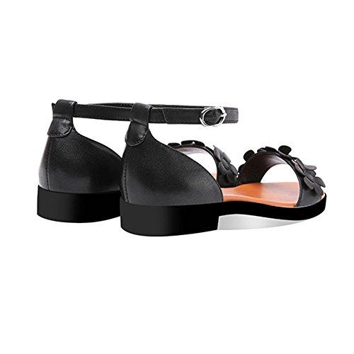 Escarpins Portable DALL Talons Sandales Toed 35 Confortable Et EU pour Noir Taille 3 Noir Chaussures CN Femmes Open Couleur Plates Hauts 35 Pantoufles UK 5 Chaussures 7dqPdxr