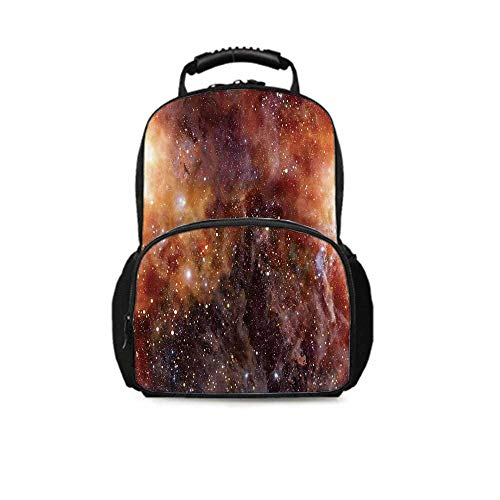 Space Decorations Leisure School Bag,Nebula Gas Cloud in Deep Outer Space Galaxy Expanse Milky Way Star Print for School Travel,One_Size (Best Way To Relieve Gas)