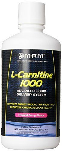 MRM L Carnitine 1000, Supports Energy Metabolism, Cardiovascular and Liver Health (Tropical Berry Flavor, 32 oz)