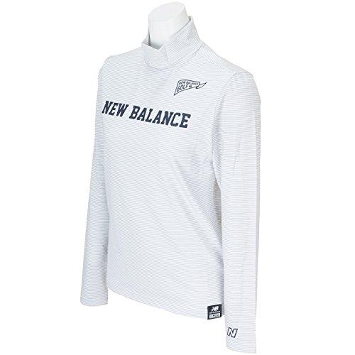 ニューバランス New Balance 長袖シャツ?ポロシャツ METRO ボーダー長袖モックネックシャツ 012-7167503 レディス ホワイト 030 1