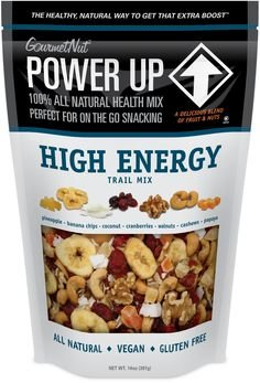 Taste T-picks Natural - Gourmet Nut POWER UP High Energy Trail Mix, 100% Natural, Vegan, Gluten Free (Pack of 2)