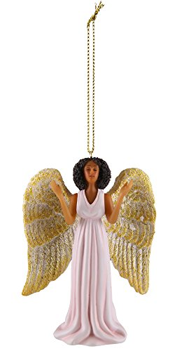 (African American Expressions - Pink Angel Collectible Christmas Ornament ORNA02 )