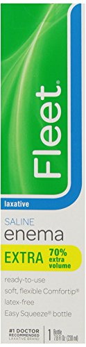 Fleet Laxative Saline Enema | 7.8 oz | Pack of 3 | Fast Constipation Relief in Minutes