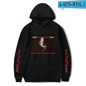 jiuyaomai Sweatshirt Suéter con Capucha Estilo Rapero para Hombres ...