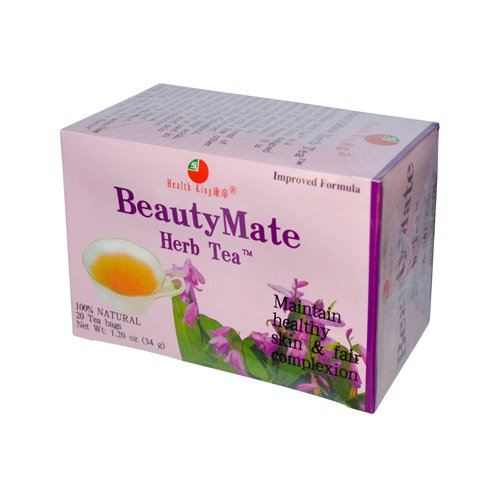 2 Packs of Health King Beautymate Herb Tea - 20 Tea Bags (Tea Herb Beautymate)