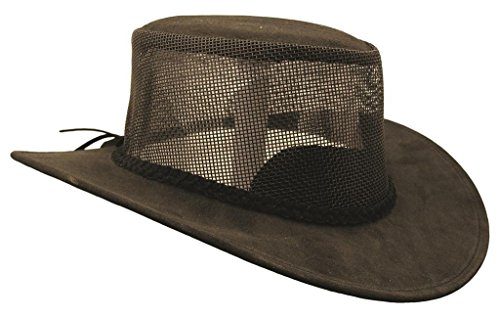 Kakadu Suede Hat - Kakadu Ventilating Suede Leather Hat Bendigo KTA Black