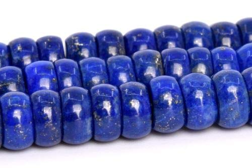 5x2M Genuine Natural Blue Lapis Lazuli Beads Afghanistan Rondelle Beads 14'' Crafting Key Chain Bracelet Necklace Jewelry Accessories Pendants