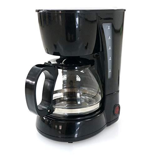 Family Care Cafetera de Goteo, cafetera electrica, Jarra 0 6 litros para 4 Tazas, Acero inoxidable y plastico, color Negro, 650 W