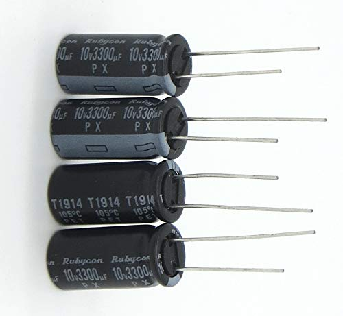 ZYCX123 El Plomo Condensador electrol/ítico de Aluminio Kit 50V 3300uF Radial condensadores electrol/íticos de Bricolaje Electr/ónica Herramientas de reparaci/ón de Hardware de la Herramienta 5pcs
