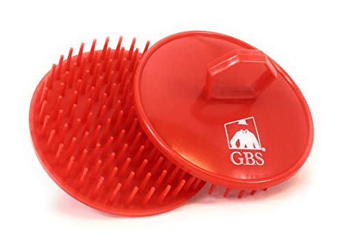 GBS Shampoo Massage Brush No.100-2 PACK Red Brush - Scalp Massager for Hair Growth Beard Brush - Head Scrubber Promotes for Hair Growth. Multi Use for Women Men Beard and Pet Grooming Brushes