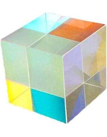 confezione da 3 pezzi Yunhigh vetro ottico prisma cubo arte cristallo arcobaleno creatore spettro di luce riflettente fisica fotografia fotografia prisma