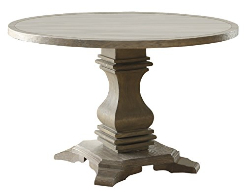Terrific Homelegance Euro Casual 48 Round Dining Table Gray Squirreltailoven Fun Painted Chair Ideas Images Squirreltailovenorg