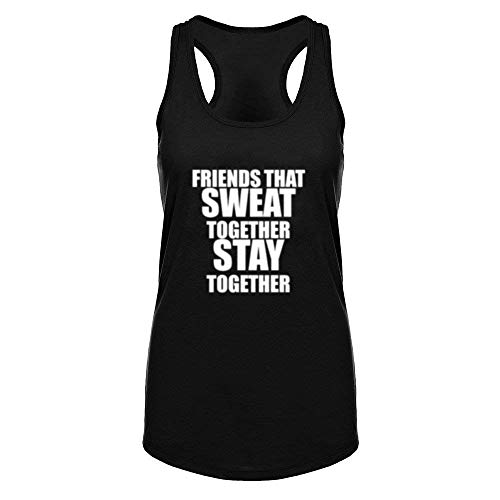 Fannoo Tank Tops for Women-Womens Funny Saying Fitness Workout Racerback Tank Tops Sleeveless Shirts Black