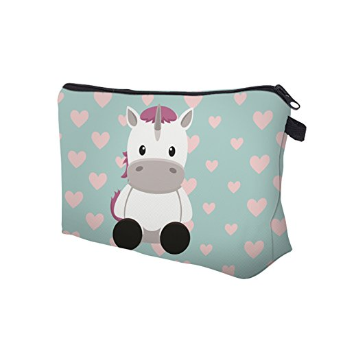 Cute Unicorn Cosmetic Travel Bag/Organizer Case Make up Bag Pouches for Girls Kids (Ty[pe-4)