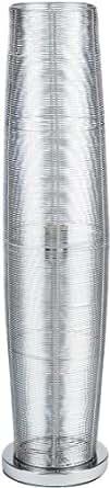 Wofi 3273.01.70.2200 - Lámpara de acero (1 bombilla, altura de 85 cm, diámetro de 20 cm, diámetro del pie 20 cm), color plateado