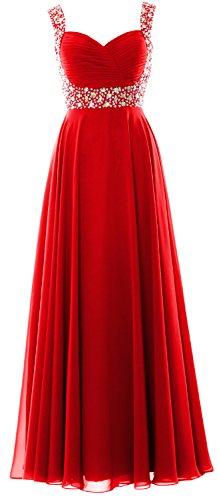MACloth Donna Senza Vestito Red ad maniche linea a zY48rqnzH