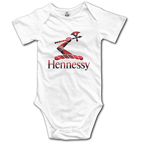 red-metal-hennessy-xo-logo-baby-romper-short-sleeve-babysuit-baby-onesie-for-boy-girl-white-18-month