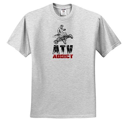 Carsten Reisinger - Illustrations - ATV Addict Rider Jumping Four Wheeler Offroad - T-Shirts - Youth Birch-Gray-T-Shirt Small(6-8) (ts_282688_28)