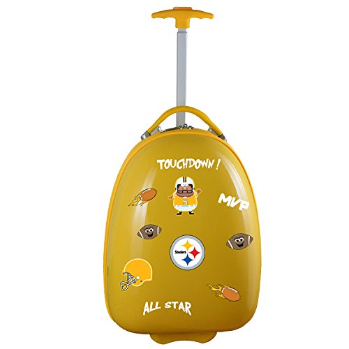 - Denco NFL Pittsburgh Steelers Kids Lil' Adventurer Luggage Pod, 18-inches, Yellow