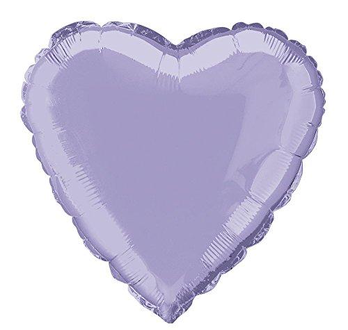 "18"" Foil Lavender Heart Balloon"