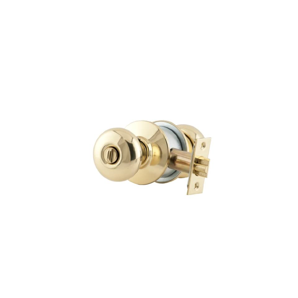 Schlage A53PD PLY 605 C Keyway Series A Grade 2 Cylindrical Lock, Entrance Function, C Keyway, Plymouth Design, Bright Brass Finish