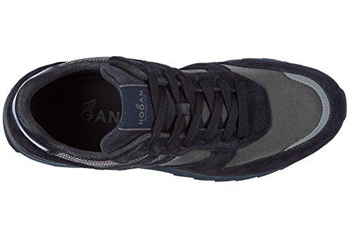 Hogan Chaussures Baskets Homme Daim Nouveau R261 Bleu