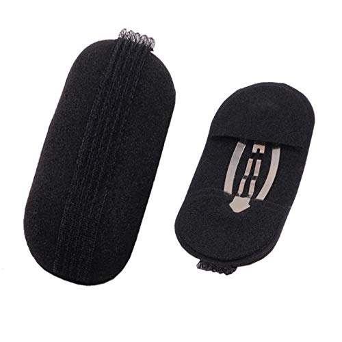 8Pcs/4 Pairs Women Lady Girl Sponge Bump It Up Hair Clip Volume Inserts Hair Styling Tool Barrettes Hair Accessories Fluffy Hair Pad, Black