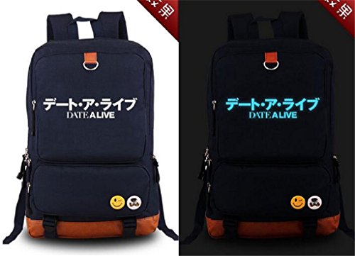 Siawasey Anime Date A Live Cosplay Luminous Backpack Shoulder Bag School Bag