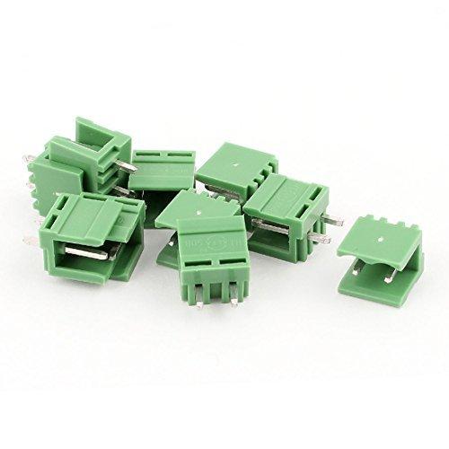10 Pcs 5.08mm droite 2pin PCB enfichables borniers Connecteurs DealMux DLM-B00X77P2IS