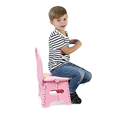 Hepheas Folding One Touch Folding Step Stools with Back for Children, Red B01JGGHD08