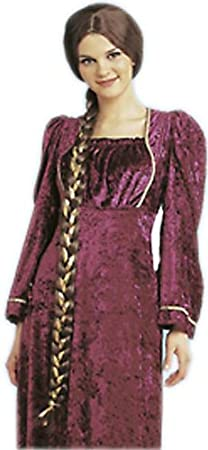 Adult Brown Deluxe Juliet Costume Wig with Braid