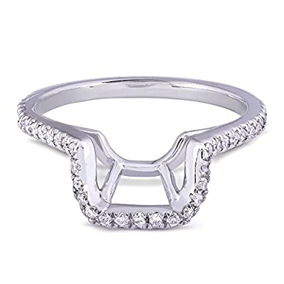 Round Diamond Shadow Band 1/5 Carat (ctw) in 14k White Gold from Kobelli