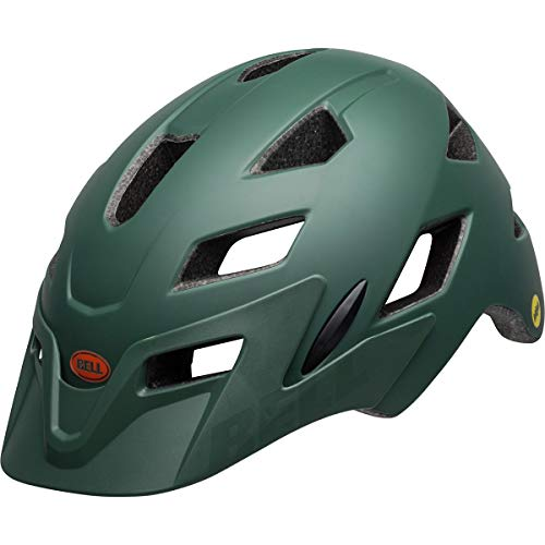 Bell Sidetrack Helmet - Kids' Matte Dark Green/Orange, One Size ()