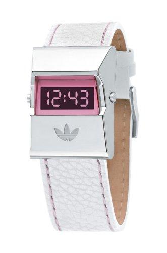 adidas adh1326 señoras correa de cuero Digital reloj de acero inoxidable: Amazon.es: Relojes